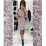 """Женское платье с воланом миди """"Rihanna"""" из ангоры"""