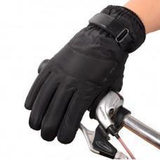 Перчатки  для сенсорных экранов непромокаемые, ветрозащитные, утепленные !  Черные  код 107