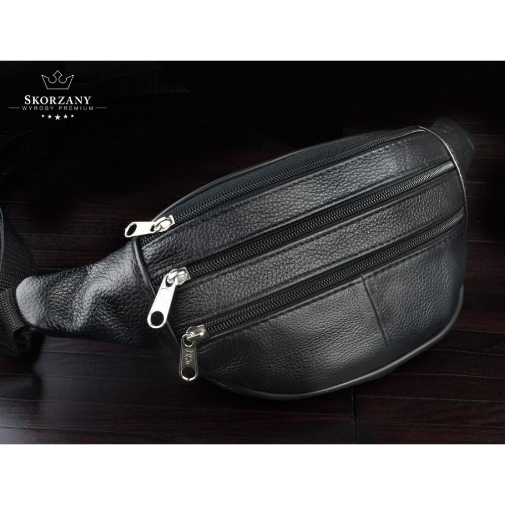 Барсетка, сумка на пояс Кожа натурал. Польша