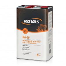 Моторное масло Rovas 5W-30 синтетика 4л (110053)