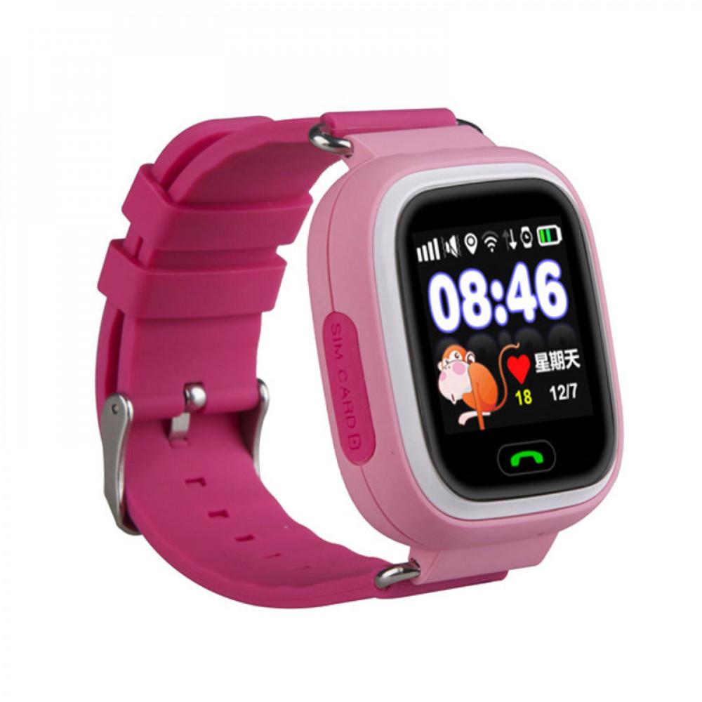 Детские часы с GPS трекером Smart Baby Watch Q90S (Розовый)