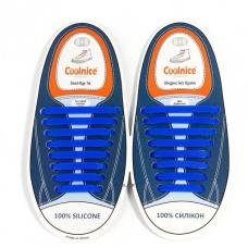 Силиконовые шнурки Coolnice В01 Blue (n-317)
