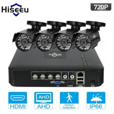 Комплект видеонаблюдения Hiseeu 4ch AHD-1MP 720P Outdoor