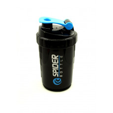 Спортивная бутылка-шейкер Profi для воды спортивного питания 500 мл Черная (500018)