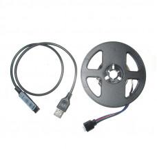 Светодиодная лента с USB и миниконтроллером Feron LS708 RGB (008257)