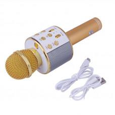 Беспроводной караоке микрофон Wster WS 858 Золотистый (70)