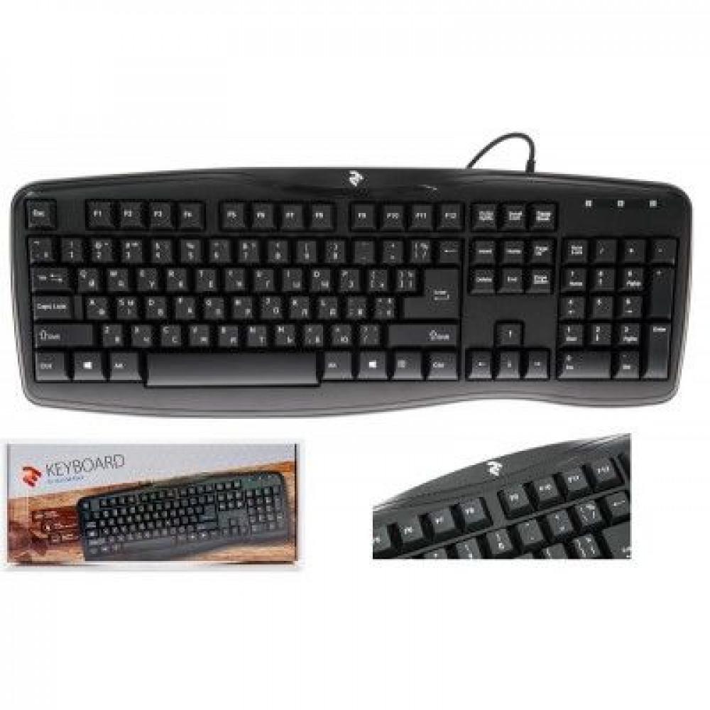 Проводная клавиатура 2E KS 103 USB Black