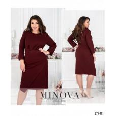 Женское нарядное  платье плюс сайз -бордо