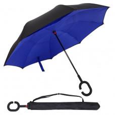 Умный зонт наоборот Supretto Черный с синим (4687-0011)