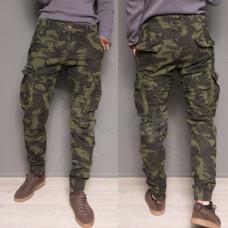 Утепленные зимние джинсы джоггеры мужские на флисе Forex 1870-army green Размеры 32,36,38,40