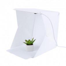 Световой фотобокс HMD с LED подсветкой для предметной макросъемки 24х23х22 см Белый (117-10821030)
