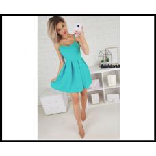 Шикарное коктейльное платье с корсетом , голубое