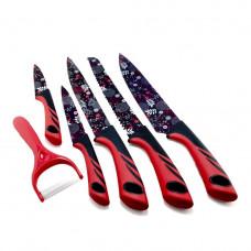 Набор ножей Brightland UN-1806 (6 предметов) с овощерезкой