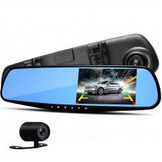 Зеркало-видеорегистратор Vehicle Blackbox DVR Full HD + камера заднего вида (hub_XrJi30227)