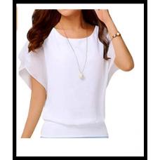 Блузка женская шифоновая, хит продаж в США, размер  xs-xxl, белая