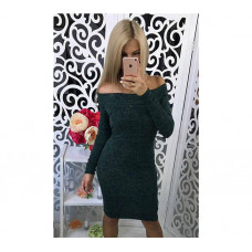 """Платье с открытыми плечами миди из ангоры """"Alana"""""""
