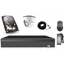 Элитный комплект видеонаблюдения Longse 4M1V c 1 камерой 4 Мп + HDD 250