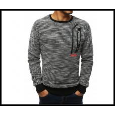 Мужской свитер на резинке m-xxl, серый