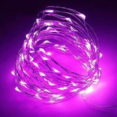 Светодиодная гирлянда LTL Капля росы длина 10м 100led Фиолетовая Purple (10м100lpurple)