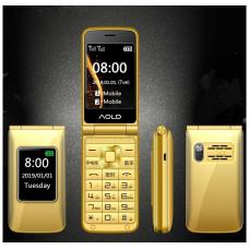 Раскладной телефонH-mobileDualGold  двойным экраном и громкий звуком