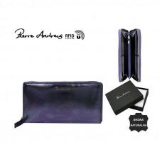Кожаный кошелек Pierre Andres N511-METALLIC синий