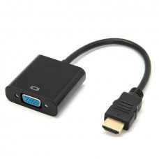 Переходник-конвертер видео HDMI в VGA активный Черный (HDMI-VGA-2)