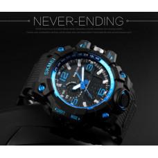 Спортивные часы Skmei 1155 синие  50 m водонепроницаемый (5АТМ)