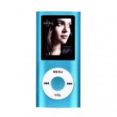 HiFi MP4-плеер MP4 1.8д  синий корпус метал Поддержка fm Радио TF карты MP4 видео