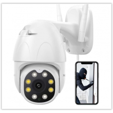 Наружная камера видеонаблюдения Dragon Touch OD10, Наружная камера 1080P HD PTZ WiFi для домашнего наблюдения