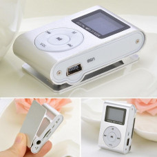 MP3 мини плеер MX-801FM  мини с экраном С памятью 8GB прищепкой серебро