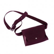 Женская кожаная поясная сумка TheGirl Винный (as180104)