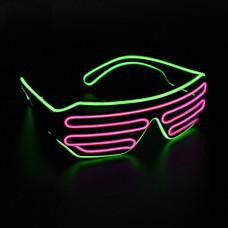 Очки светодиодные неоновые El Neon green Purple (902908176)