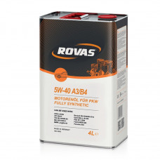 Моторное масло Rovas 5W-40 A3/B4 синтетика 4л (110055)