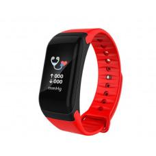 Смарт браслет F1 Plus красный датчик сердечного ритма и артериального давления