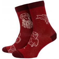 Носки с принтом мужские Mushka Leonardo LEON01 41-45 Красные (009503)
