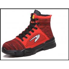 Защитные кроссовки мужские высокие размер 36-48 красные
