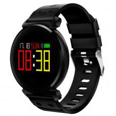 Смарт-часы UWatch K2 черные Водонепроницаемый IP68  OLED HD  измеряет кислород и кровяное давления