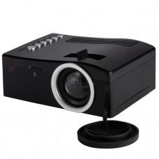 Портативный мини LED проектор Unic UC 18 С ПОДДЕРЖКОЙ HD ВИДЕО (ЧЁРНЫЙ) VGA USB SD AV HDMI