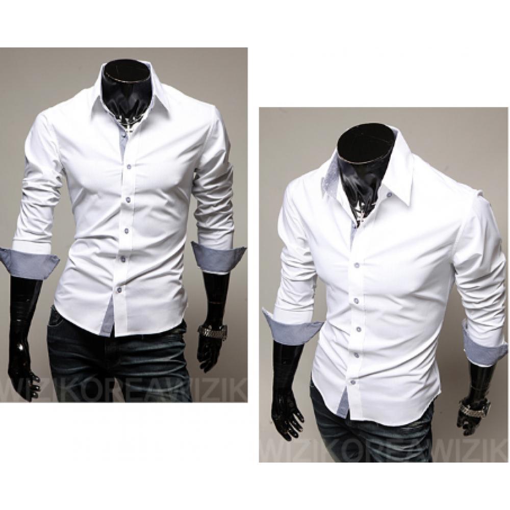 Рубашка мужская белая классическая с длинным рукавом L, XL, XXL белая