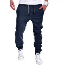 Мужские штаны синего цвета код 62 р. Л