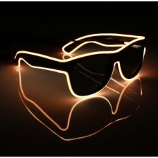 Очки светодиодные солнцезащитные El Neon  неоновые ray Оrange (901848165)