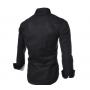Сорочка чоловіча приталена M, L, XL, XXL ( черна )
