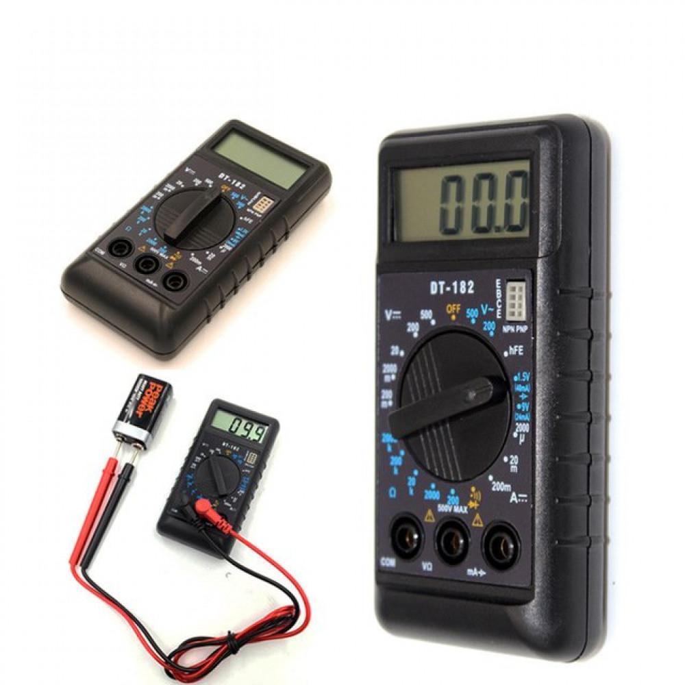 Цифровой мультиметр Digital DT182 портативный, компактный
