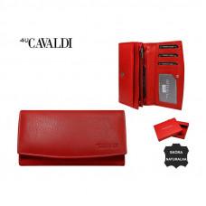 Кошелек натуральная кожа  Cavaldi красный натуральная кожа Польша код 513