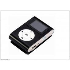 MP3 мини плеер MX-801FM  мини с экраном С памятью 4GB прищепкой черный