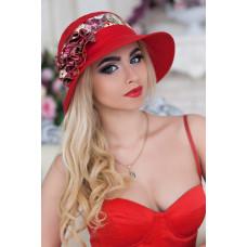 Шляпа «Сюзет» (красный) Braxton