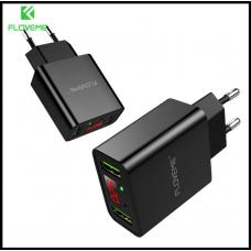 Блок зарядки Floveme  на ДВА USB 5V2.2A с дисплеем Быстрая зарядка