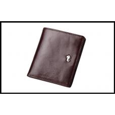 Мужской кошелек BISON DENIM, из натуральной кожи, с блокировкой RFID коричневый