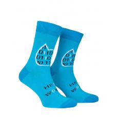 Носки с принтом женские Mushka Binary cat BINC01 36-40 Голубые (009518)