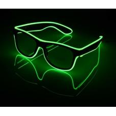Очки светодиодные прозрачные El Neon неоновые ray Green (902383776)